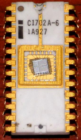 Intel i C1702A-6 1A927 Gold EPROM 7609 Phillipines