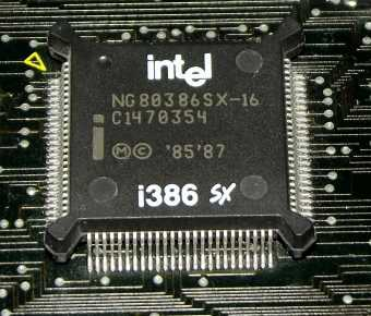 Intel i386 SX 80386SX-16 CPU