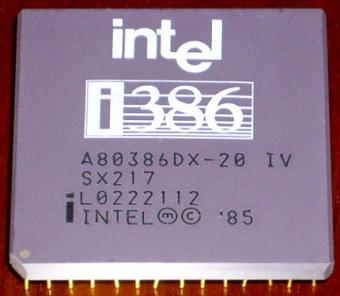 Intel i386DX-20 sSpec: SX217 CPU 1985
