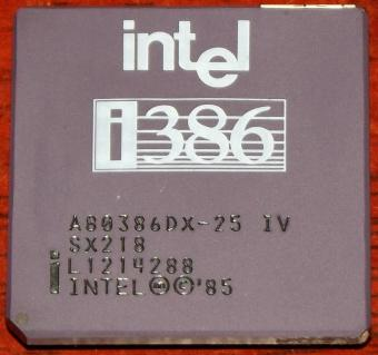 Intel i386 A80386DX-25 IV SX218 CPU 1985