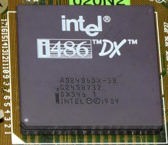 Intel i486 80486DX-50 SX546 1989 CPU