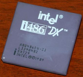 Intel i486 DX 33MHz CPU sSpec: SX729 1989
