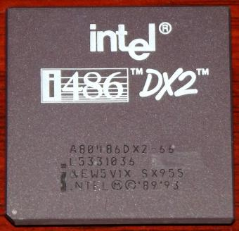 Intel i486 DX2 66MHz CPU sSpec: SX955, A80486DX2-66, 1993