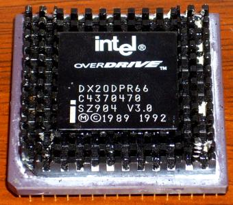 Intel i486er OverDrive DX20DPR66 Black CPU