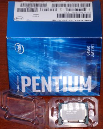 Intel Pentium Dual-Core G4560	3.5GHz CPU, sSpec: SR32Y (Kaby Lake-S), Socket 1151, 2017