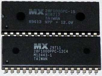 MX 28F1000PPC-12C4 M12443-1 & MX 28F1000PC-15 M18717 Chip Taiwan