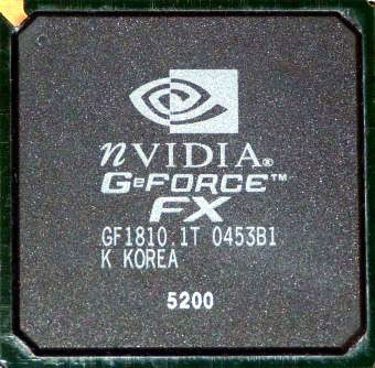 Nvidia GeForce FX 5200 GPU