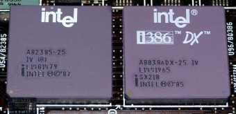 Intel A82385-25 & i386 80386DX 25MHz CPU sSpec: SX218
