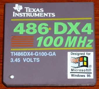Texas Instruments 486-DX4 100MHz CPU