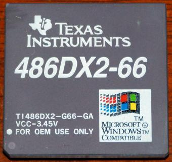 Texas Instruments 486DX2-66 CPU