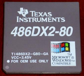 Texas Instruments 486DX2-80 CPU