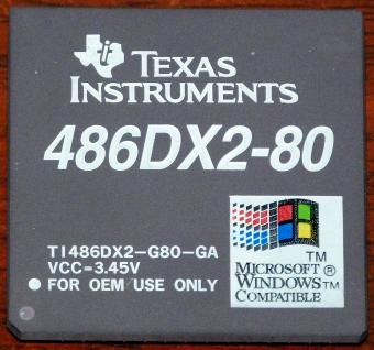 Texas Instruments 486DX2 80MHz CPU TI486DX2-G80-GA VCC 3.45V Windows Compatible