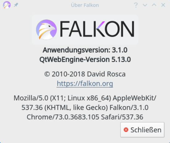 Falkon Web-Browser