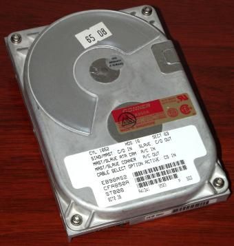 Conner CFA850A IDE 850MB HDD, PCA 11350-005 Rev. P3, Adaptec AIC-8265Q NCR 6008 Chip 1994