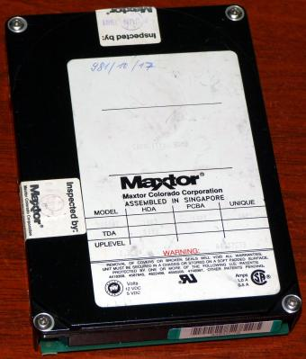 Maxtor Colorado Corporation Model 7080AT IDE 80MB HDD Inspected 1991