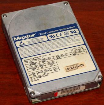 Maxtor Model 71336A IDE 1.34GB HDD Fast-ATA2, Total Customer Satisfaction, adaptec AIC 8371Q, Singapore 1996