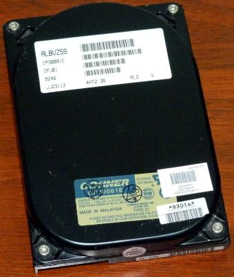 Conner CP30081E IDE 84MB HDD Type 27