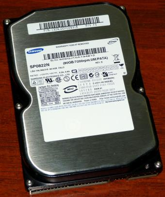 Samsung SpinPoint SP0822N Palo PATA 80GB HDD 7200rpm C0540 ARM 2006