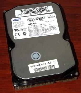 Samsung SpinPoint SV0842D IDE 8,4GB HDD Voyager-8/9,  SEC A945A SID9901 DSP 2000