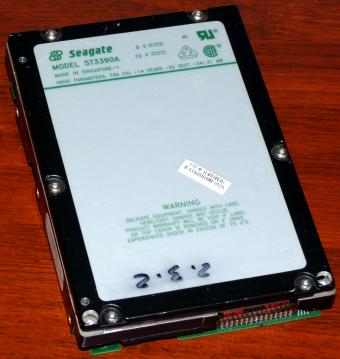 Seagate Model ST3390A IDE 341,31MB HDD 1993