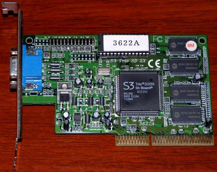 3622A S3 Trio 3D/2X On-Board 621-950010 VGA 8MB AGP 1999