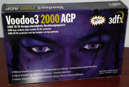 3dfx Voodoo3 2000 AGP 16MB Model: V32416 in OVP 1999