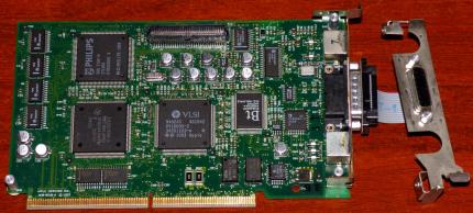 Apple Computer Inc. 820-0510-A 8-Bit PDS (DB15) S-Video Video-Card for 6100-9150 Series VLSI 9402AS Ti 343SO139-A Bt9845AKPF Philips SAA-7194-H inkl. Adapter-Kabel 1993