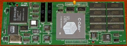C-Cube Microsystems CL950 GCD World first MPEG-1 Decoder 1991 MPEG-II (Prototype) CPU 139506 Rev. 2 SIC PCB, Philips SAA-7199B-WP Chip, Crystal CS4920-CL-EP, 6x Toshiba Y70196-TC514260BJ-70 1994