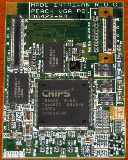 Chips & Technologies CT65550 B-ES1 Laptop Grafikkarte CT-65550 CT-HiQV GPU Video-Card for 310 ThinkPads & Texas Instruments Notebooks