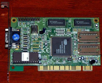 Cirrus Logic CL-GD5440 GPU Rev. C2 FCC-ID: KC8GUIVGAS1 PCI 1996