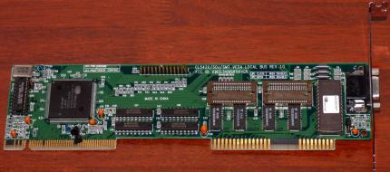 Cirrus Logic CL542X/SOJ/SMT Vesa Local Bus REV 1.0 Grafikkarte FCC-ID: KDECL5428SMTHFVGA CL-GD5429-86QC-B GPU VLB 1994
