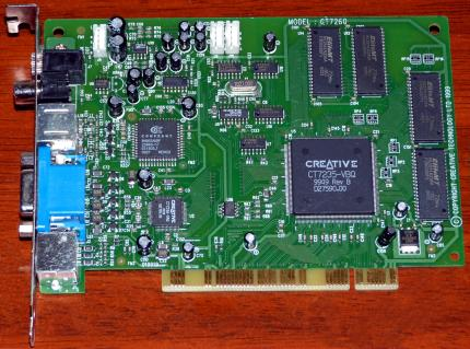 Creative Technology Ltd. Model CT7260 CT7235-VBQ, DXR3 DVD De-Coder PCI 1999