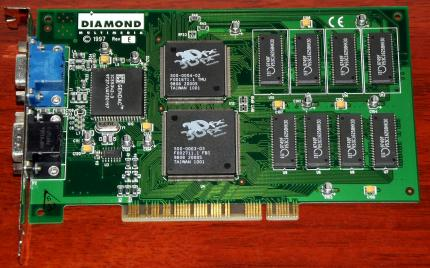 Diamond Multimedia Monster 3D PCI 4MB 3Dfx 1997 Rev-E