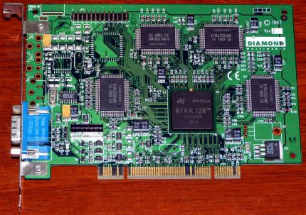 Diamond Multimedia Viper V330 4MB PCI Nvidia RIVA 128 GPU 1997
