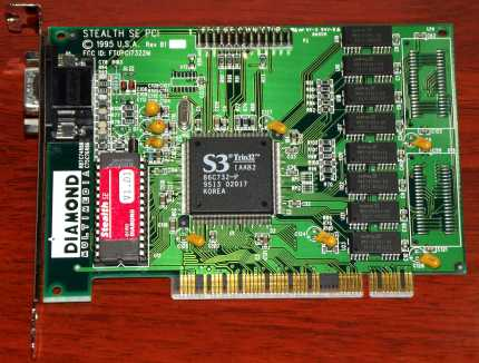 Diamond Stealth SE PCI 1995 S3 Trio32