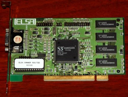 ELSA Winner 1000/T2D S3 Trio64V2/DX PCI 1996
