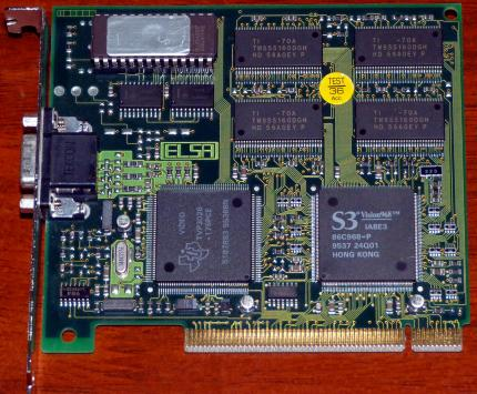 Elsa Winner 2000AVI-4 S3 Vision968 86C968 GPU FCC-ID: KJGW2000AVI PCI Aachen Germany 1995