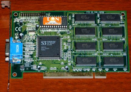 EonTronics S3 Virge/DX On-Board FCC ID: DXL-DP18 PCI 1998