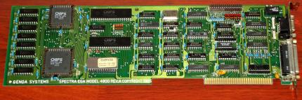 Genoa Systems Spectra EGA Model 4800 Rev. A CHIPS P82C434 SN: 650007 ISA Grafikkarte 1985