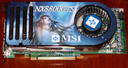 MSI NX8800GTS nVIDIA GeForce Grafikkarte 2x DVI, PCIe, China 2006
