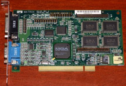 Matrox Mystique 220 4MB 644-03 Rev. A MGA-1164SG-A MY220P/4I PCI Irland 1997