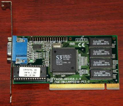 Miro Crystal 3D S3 Virge on Board 2MB EDO LAHV22SD 1996