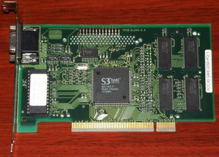Miro Crystal CR22SD PCI S3 Trio64 FCC-ID: LAHC22SD-PCI-1 Peacock 1995
