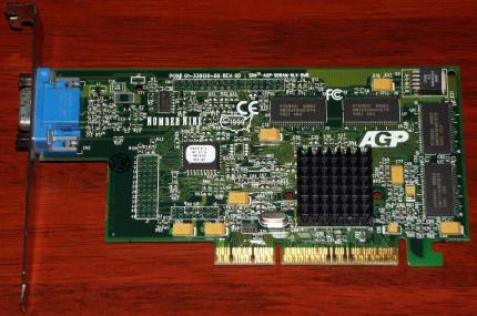 Number Nine SR9 Savage4 GPU, NLX 8MB, IBM FRU: 09N5898, AGP Grafikkarte 1999