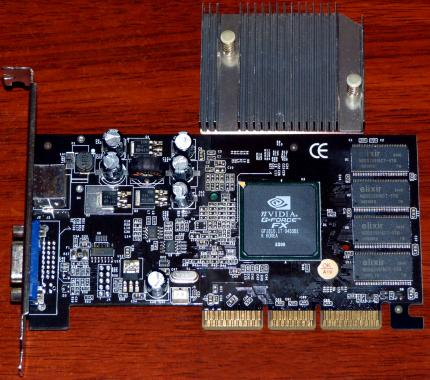 Nvidia GeForce FX 5200 AGP 8x 128MB TV-Out P/N: NA52000-T016-PM8631