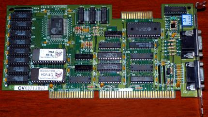 OAK Technology Inc. OtiVGA OTI037C GPU FCC-ID: IDW37162002 ISA 1988