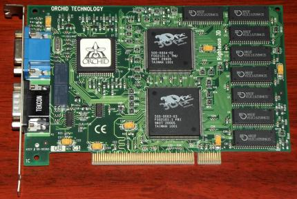 Orchid Technology Righteous 3D Voodoo 3Dfx, FCC-ID: DDS7EFF06964M3DFX PCI 1998