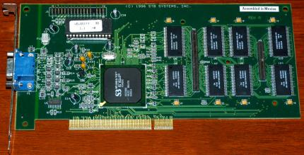 STB Systems Inc. Velocity 3D S3 ViRGE/VX 86C988 On-Board 210-0239-001 PCI 4MB 1996