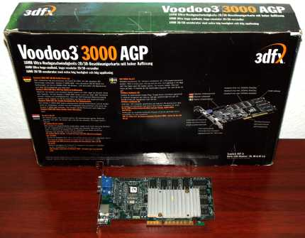 STB Systems Inc. 3dfx Voodoo3 3000 PN: 210-0364-003 16MB TV-Out AGP 1999