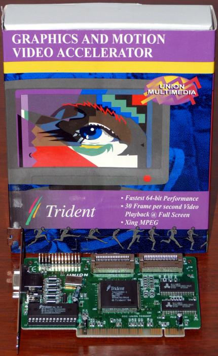 Union Multimedia TD 9680P Trident TGUI9680-1 PCI OVP/NEU 1994